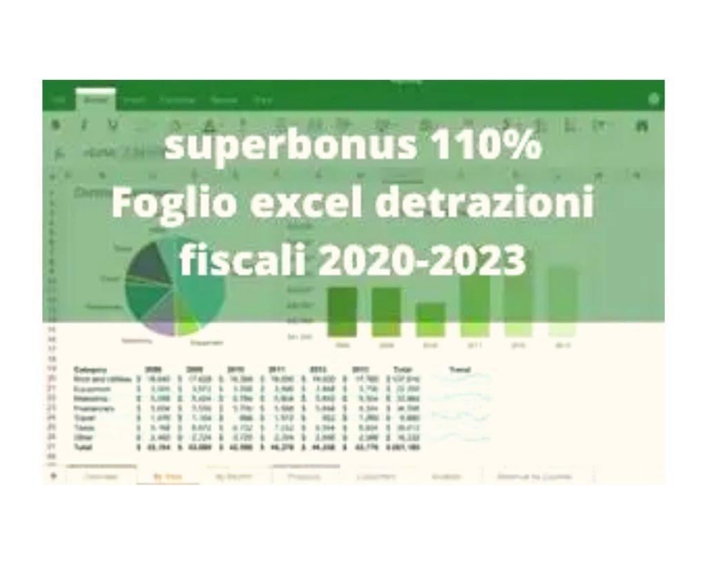 Online il file Excel per il calcolo del Superbonus